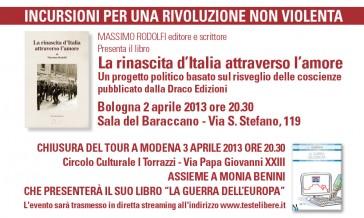 Conferenze: Bologna 2 Aprile 2013 – Modena 3 Aprile 2013