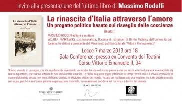 Invito alla conferenza: Lecce 7 Marzo 2013