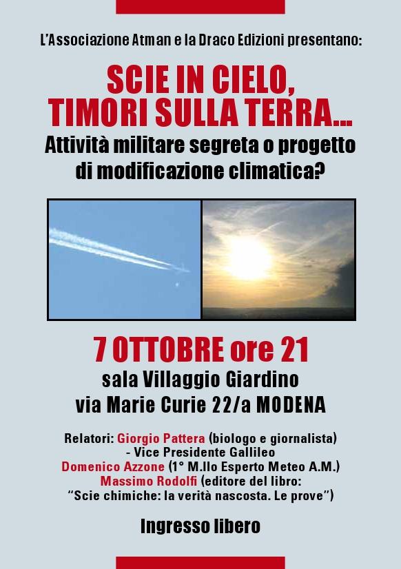 La Nostra Storia - Prima Conferenza a Modena 7 ottobre 2010