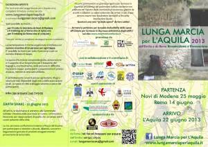 La lunga marcia per l aquila 2013 riprendiamoci il pianeta for Volantino acqua e sapone l aquila