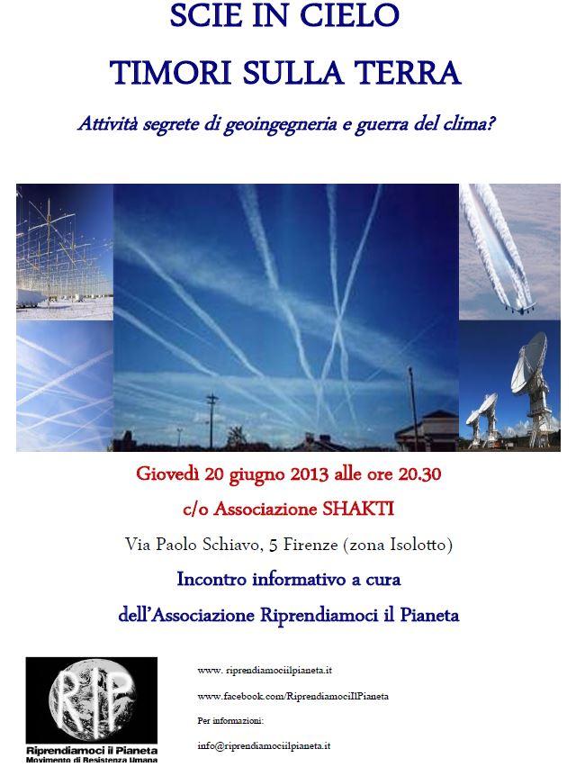 Volantino Conferenza Scie Chimiche Firenze - 20 giugno 2013 - v2