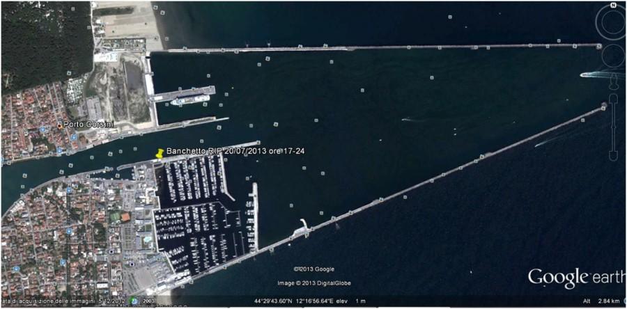 Posizione Banchetto RIP - Marina di Ravenna - 20 Luglio 2013