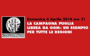 """Torino, LA CAMPAGNA""""PUGLIA LIBERA DA OGM"""": UN ESEMPIO PER TUTTE LE REGIONI"""