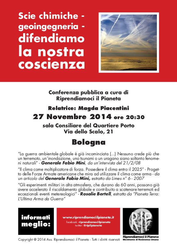 Conferenza pubblica su scie chimiche e geoingegneria