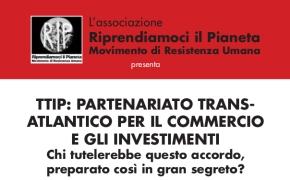 Bologna, 9 Novembre 2014: TTIP, PARTENARIATO TRANS-ATLANTICO PER IL COMMER-CIO E GLI INVESTIMENTI