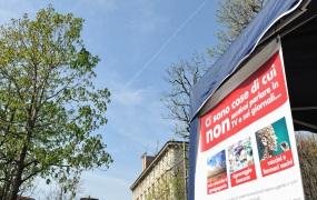 Torino, 31 Gennaio 2015: Raccolta Firme Contro Scie Chimiche