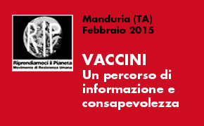 Manduria (TA), Febbraio 2015: Percorso Informativo Vaccini