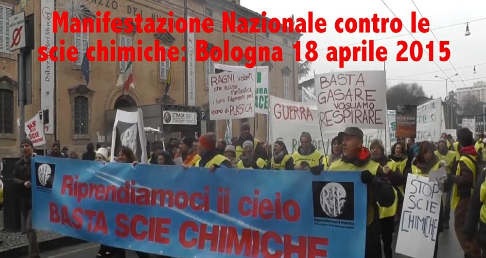 Bologna, 18 Marzo 2015 Manifestazione Nazionale contro le Scie Chimiche