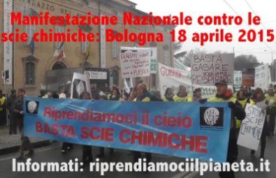 Manifestazione Nazionale contro le scie chimiche: Bologna 18 Aprile 2015