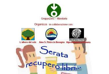 """Manduria, 14 Giugno 2015 ore 18.30: RIP sostiene l'iniziativa """"Un libro…per un altro"""""""