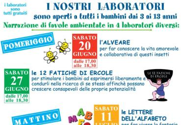 Modena, Estate 2015: Laboratori di Narrazione Favole