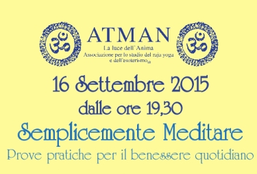 """Firenze, 16 Settembre 2015: RIP a """"Semplicemente Meditare"""""""