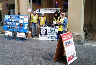 Bologna 22 Novembre 2015: Banchetto Informativo RIP – MRU