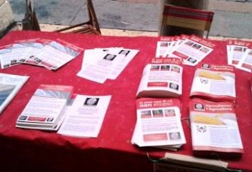 Modena, 20 Febbraio 2016: Banchetto Informativo RIP-MRU