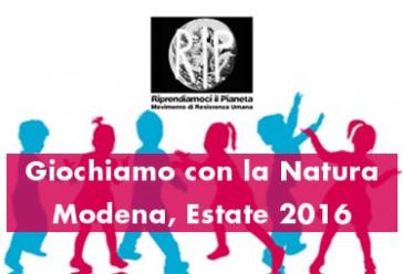 Giochiamo con la Natura – Modena, Estate 2016