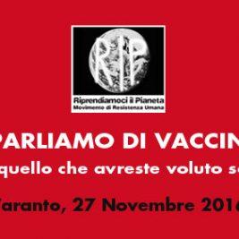 PARLIAMO DI VACCINI – Taranto, 27 Novembre 2016