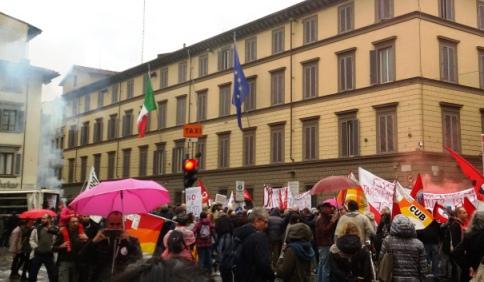 Cronaca della Manifestazione di Firenze contro Renzi e la Leopolda