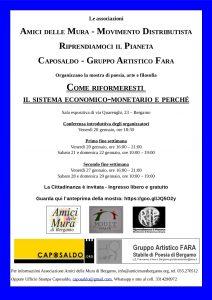 """""""Come riformeresti il sistema economico-monetario e perché"""" – Bergamo, Gennaio 2017"""