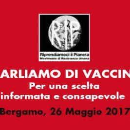 PARLIAMO DI VACCINI – Bergamo, 26 Maggio 2017