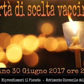 Fiaccolata per la Libertà di Scelta Vaccinale – Torino, 30 Giugno 2017