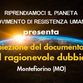 """Proiezione del documentario """"Il ragionevole dubbio"""" – Montefiorino (MO)"""