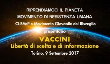 VACCINI, libertà di scelta e di informazione – Torino, 9 settembre 2017