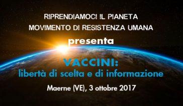 VACCINI: libertà di scelta e di informazione – Maerne (VE), 3 ottobre 2017