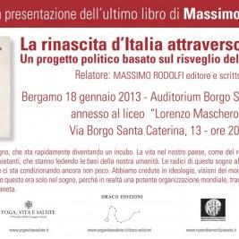 Invito alla conferenza: Bergamo 18 Gennaio 2013