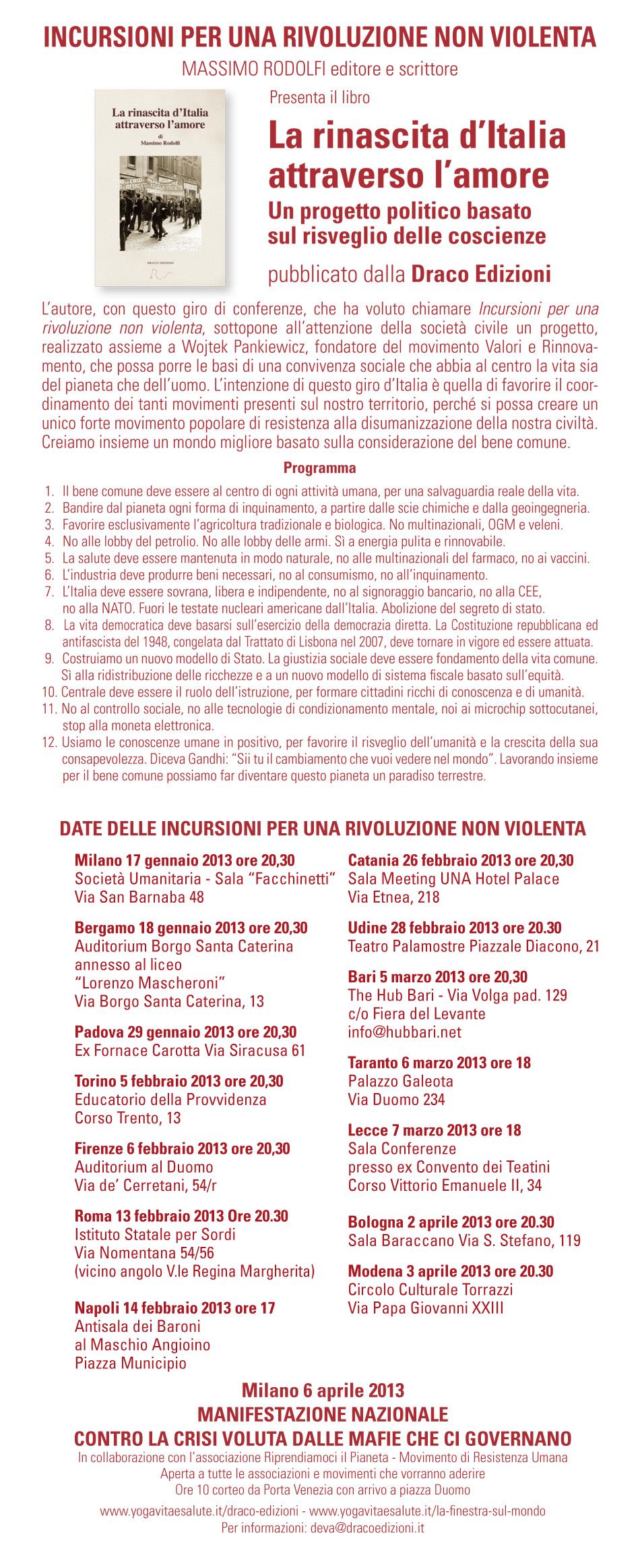 Locandina - Incursioni per una Rivoluzione Non Violenta