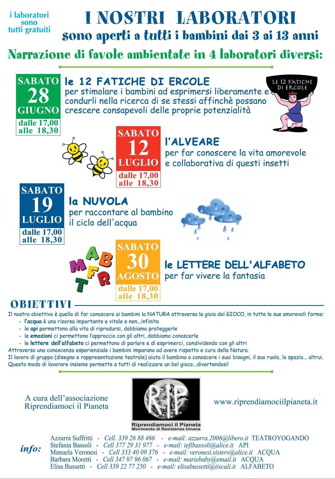 Modena, Estate 2014 Laboratori di Narrazione Favole