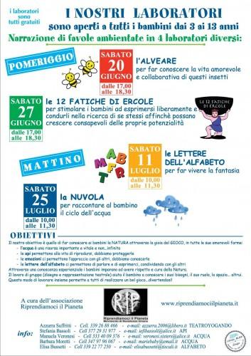 Modena, Estate 2015 Laboratori di Narrazione Favole