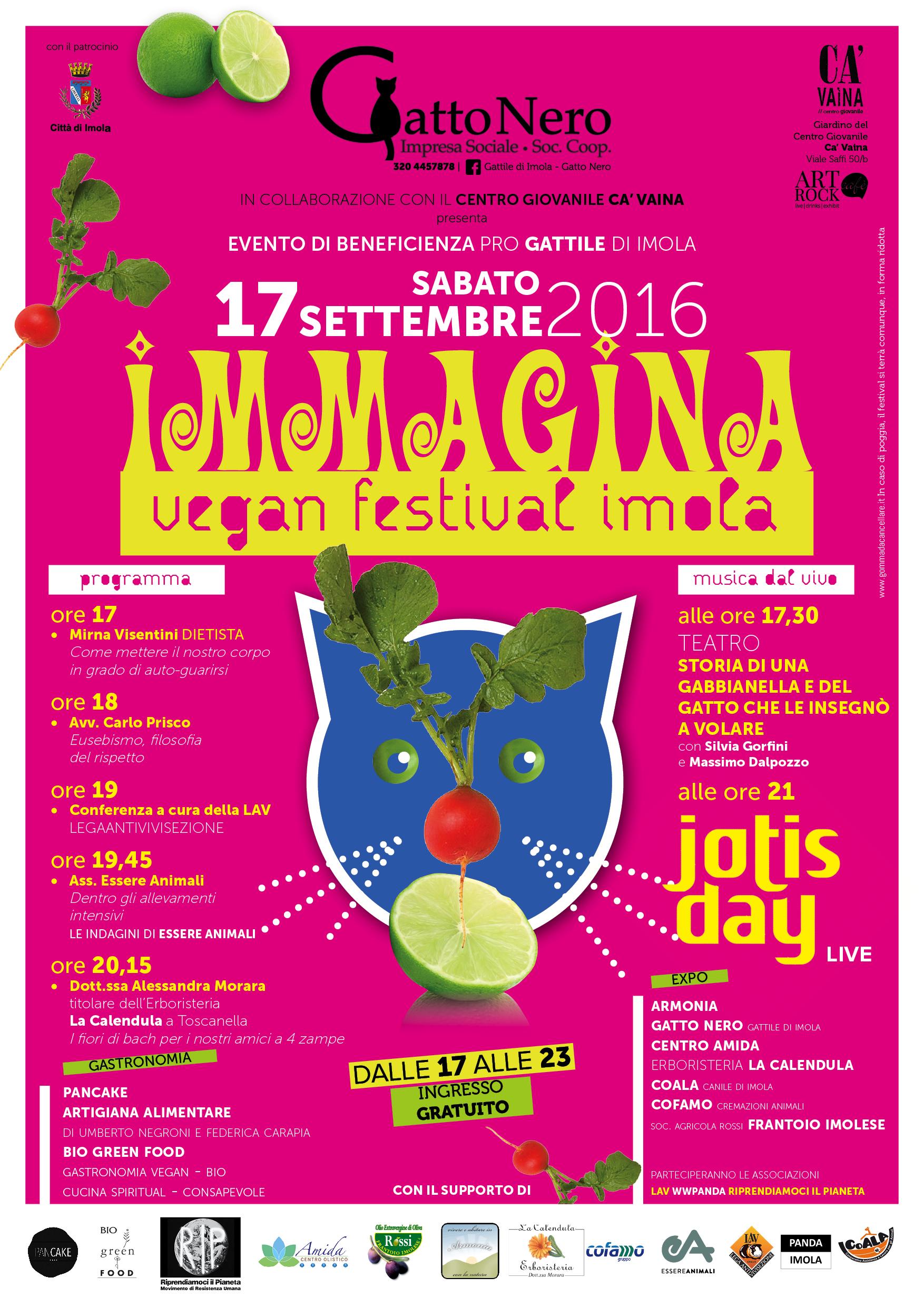 Rip A Immagina Vegan Festival Imola 17 Settembre 2016