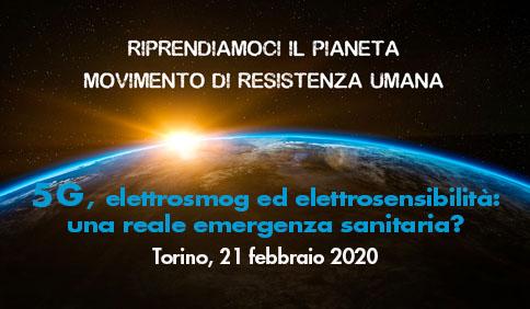 5G, elettrosmog ed elettrosensibilità - Torino, 21 febbraio 2020